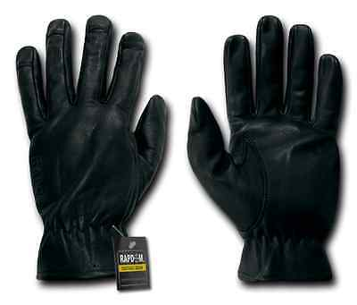 Tactical Drum Dyed Cowhide Leather Shooting Gloves Rapdom T18 BLK