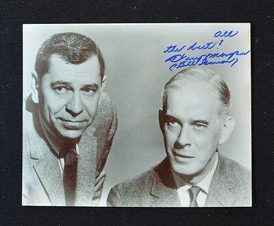 Harry Morgan  1915 2011  Authentic Autograph 8 X10 Dragnet Photo  Rare Photo