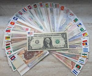 New-Paper-Money-100-World-Banknotes-UNC-from-50-countries