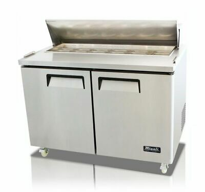 New Migali 48 Sandwich Prep Table Cooler C-sp48-hc Free Shipping