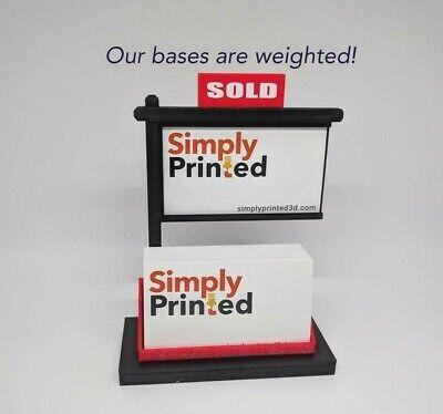 Lot Of 10 Real Estate Business Card Holder-real Estate Card Display-black Red
