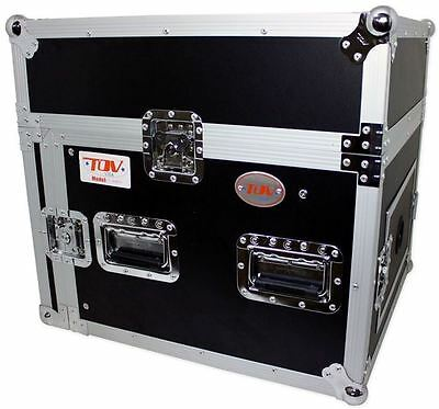 Pro X T-8MRSS 8U x 10U Space Slant Combo DJ ATA 300 Rack Flight Case 10 Space Combo Rack Case