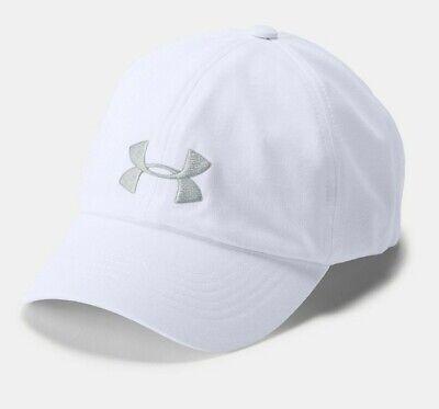 NWT Under Armour Women's UA Microthread Renegade White/Gray Logo Cap Hat