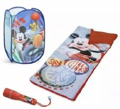 Disney Mickey Mouse Slumber Set, Sleeping Bag, Hamper And Flashlight New](Disney Kids Sleeping Bags)