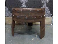 Stunning Refurbished Jack Daniel Oak Hogshead Barrel Coffee Table Pub Man Cave - UK Delivery