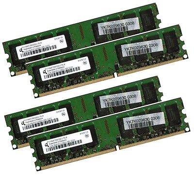 4x 2GB 8GB RAM PC Speicher DDR2 667 Mhz PC2-5300U f. Intel +AMD Low Density DIMM online kaufen