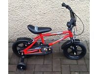 "Bike/Bicycle.CHILDS "" URBAN RACERS "" BICYCLE WITH STABILISERS.SUIT 3-5 YEARS"