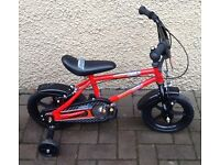 """Bike/Bicycle.CHILDS """" URBAN RACERS """" BICYCLE WITH STABILISERS. SUIT 3-5 YEARS"""