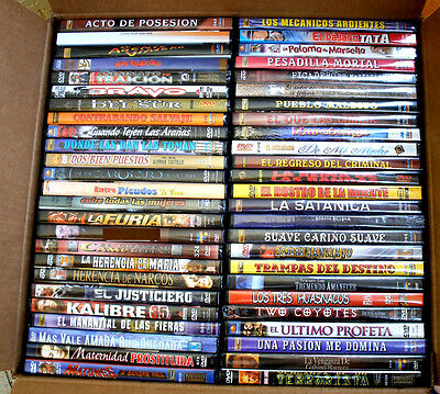 50 Different Spanish (Mexican) DVD's - New & Factory Sealed * Mario Almada, mas