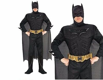 Muscle Man Outfit (Adult BATMAN DELUXE DARK KNIGHT Muscle Chest Outfit TV Fancy Dress Costume Mens)