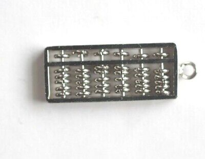 Three dimentional Movable sterling silver ABACUS Charm