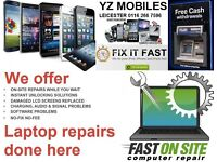 iPhone iPad tablet Samsung Galaxy Xperia Phone Screen Repairs Unlock Laptop Repairs iPhone 5G 5C 5S