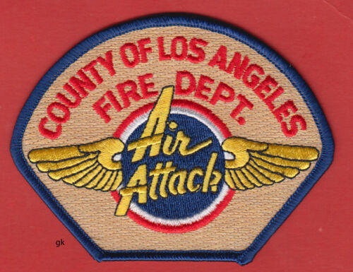 LOS ANGELES COUNTY FIRE DEPT. CALIFORNIA  AIR ATTACK SHOULDER  PATCH
