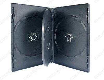 10 DVD CD Hüllen Hülle Cover 4 fach 4er-DVD-Box black