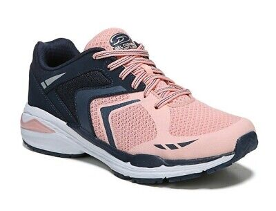 Dr. Scholl's Women's Navy/Pink Wide Width Lace-up Athletic Sneakers Shoes: 6-11