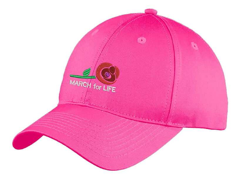 March for Life elegant embroidered cap, Support Life, Pro-Life, Women