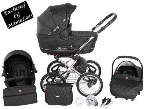 Tutek Turran Silver Eco-Leather Black Steps Kinderwagen L...