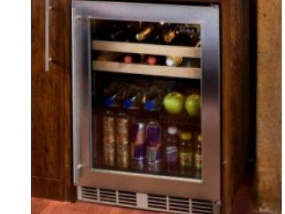 """Perlick 24"""" Outdoor Beverage Center Stainless Steel Glass Door #HP24BO-3-3R"""