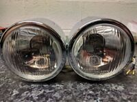 Jute 9008-A Twin Motorcycle Headlights NEW