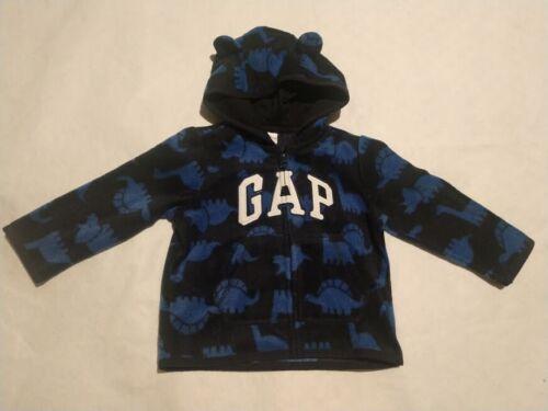 NWT Baby Gap Boys Dinosaur Logo Fleece Hoodie Jacket 12-18 Months