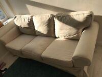Three Seat Cream Ikea Sofa