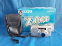 Yashica Zoomate 140 35mm AF Compact camera, box+pouch.