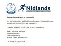 Sports Massage, Relaxing Massage, Deep Tissue Massage , Swedish Massage, Mobile Clinic, Birmingham