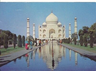 alte AK Taj Mahal - Agra, Indien 1988 gelaufen Ansichtskarte B220e