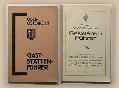 Oberösterreichischer Gaststättenführer 1931 Ortskunde Gastronomie Östereich xy