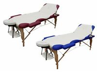 Tahiti Make Therapy/Massage Bed. Top of range with memory foam. Wine/cream . Carry case included.