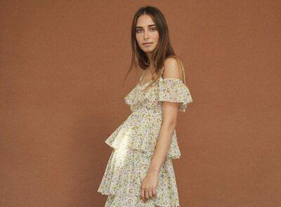 Hard to find ALEXACHUNG Tiered Floral Prairie Dress XS S 6 8 – Net a Porter