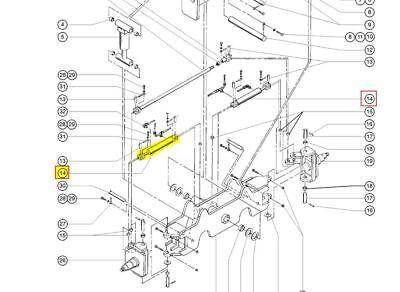 Genie 88346 88346gt - New Genuine Oem Genie S60s65 Steer Cylinder