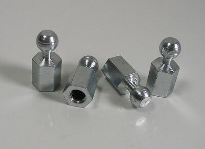 "(4) Female M6-1.0 Threaded Stud Rod End 5/16 (.315""/8mm) Ball, .900 OAL Qty 4"