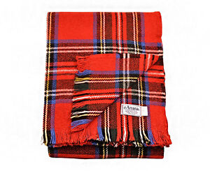 Amana Woolen Mill Royal Stewart Tartan Wool Blanket for $79.99