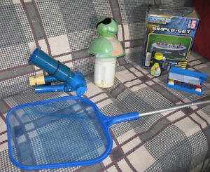 A Few Pool Accessories and Chemicals