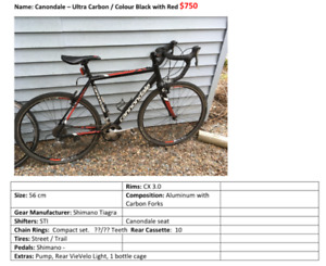 Canondale SI Cyclo-cross Street & Trail Combo