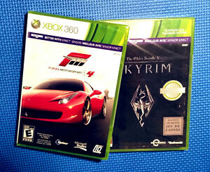 XBOX 360 games Forza Motorsports 4 and Skyrim BRAND NEW IN BOX