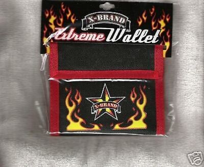 BLACK & RED BI FOLD WALLETS FLAME AND STAR X BRANDS A LOT OF