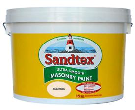 Sandtex Ultra Smooth Masonry Paint Magnolia 10 Ltr x5