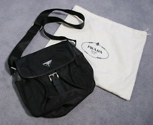 Authentic Prada Black Cross Body Bag