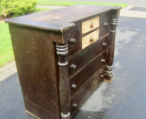 Antique Pine Chest of Drawers - New Price