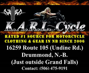 Rated #1 source for motorcycle clothing in NB since 2006