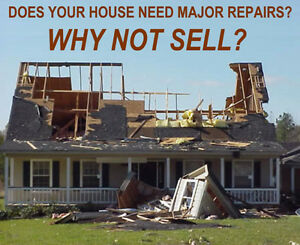 WE BUY DAMAGED/FIXER UPPER HOMES