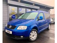 Volkswagen Caddy Maxi 1.9TDI 7seat Bus auto DSG *Bright Blue FSH Inc Belts*