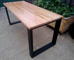 Wood Timber Office Desk Fairfield Darebin Area Preview