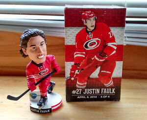Justin Faulk ceramic bobble head