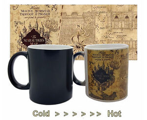 harry potter color change coffee mug mischief managed. Black Bedroom Furniture Sets. Home Design Ideas