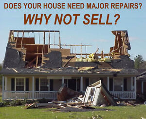 WE BUY DAMAGED/ FIXER UPPER HOMES