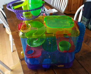 Hamster Cage with accessories.