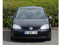 2008 Volkswagen Golf 1.4 1390cc 5 Doors, Black, ONE OWNER from new